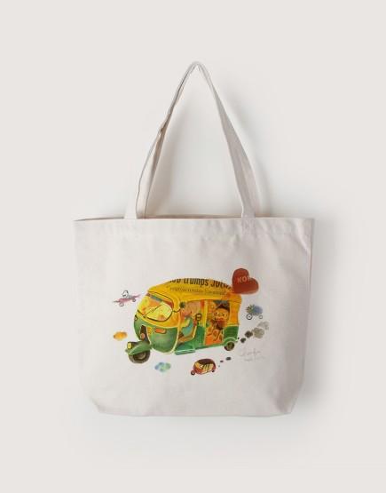 嘟嘟車 | 帆布橫式袋