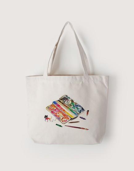 旅行調色盤 | 帆布橫式袋