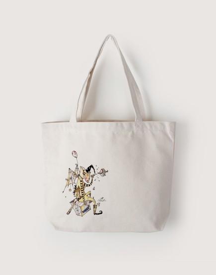 快樂   帆布橫式袋