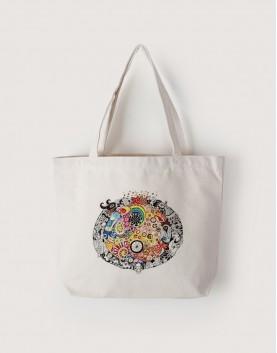 繽紛印度 | 帆布橫式袋