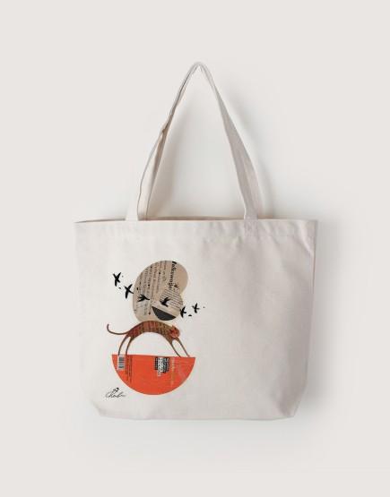 甜甜的   帆布橫式袋