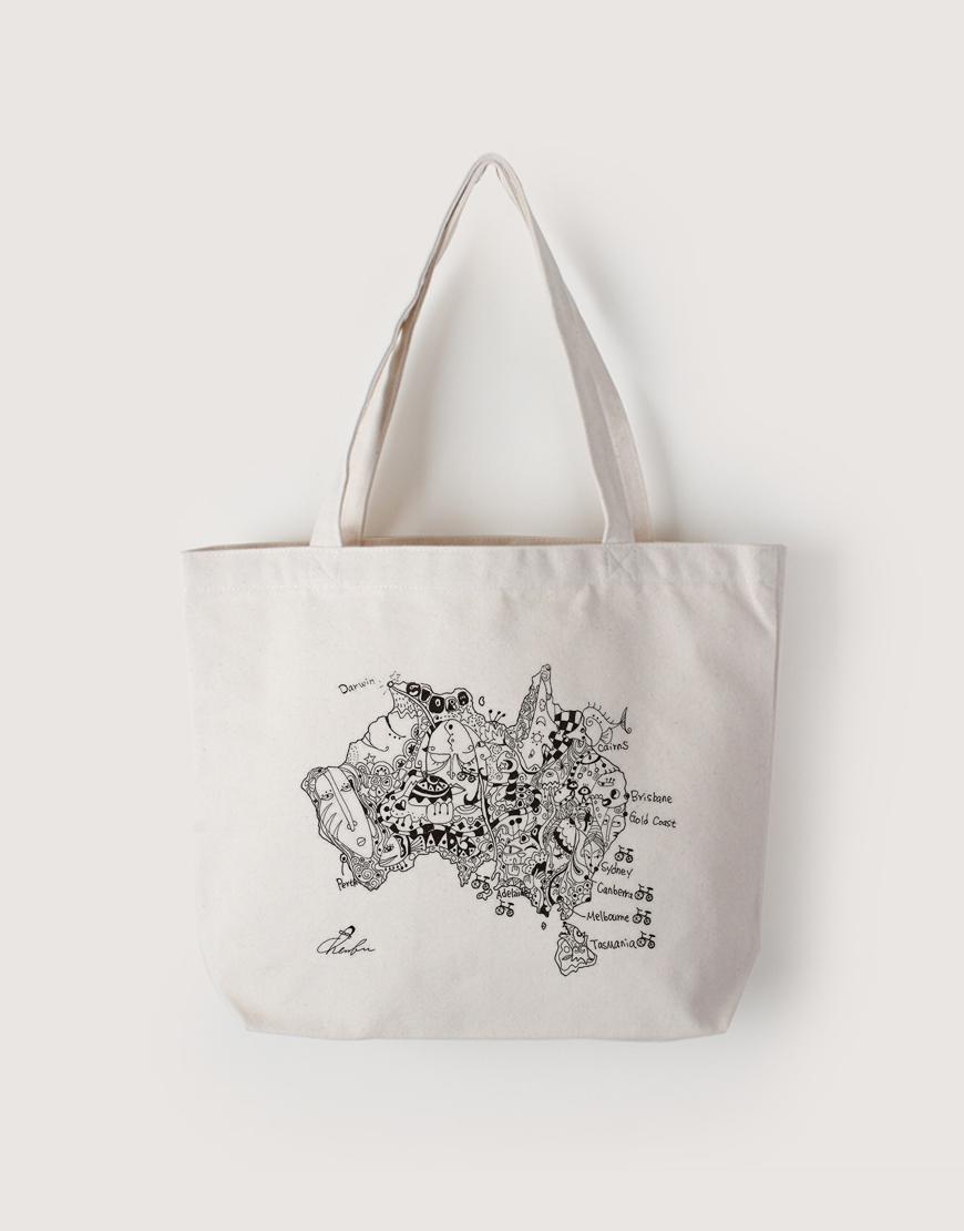 Melbourne | 帆布橫式袋