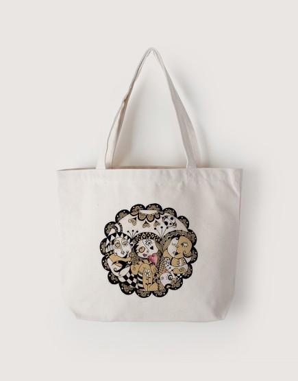 心園   帆布橫式袋