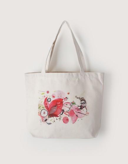 插畫展紀念款 | 帆布橫式袋