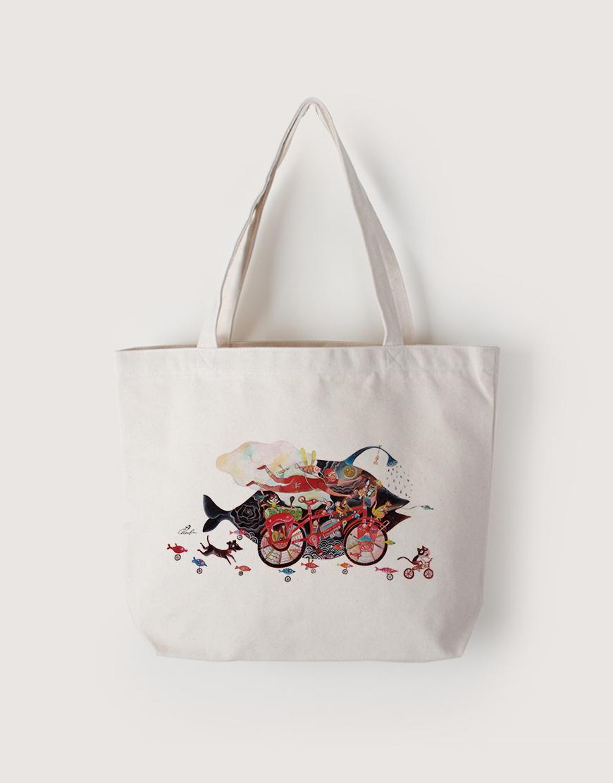 淋雨騎單車 | 帆布橫式袋