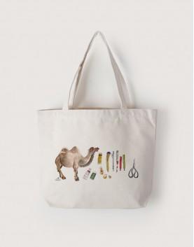 新疆遊學   帆布橫式袋