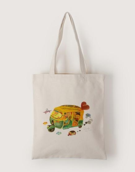 嘟嘟車 | 帆布直式袋
