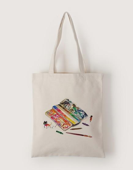 旅行調色盤 | 帆布直式袋