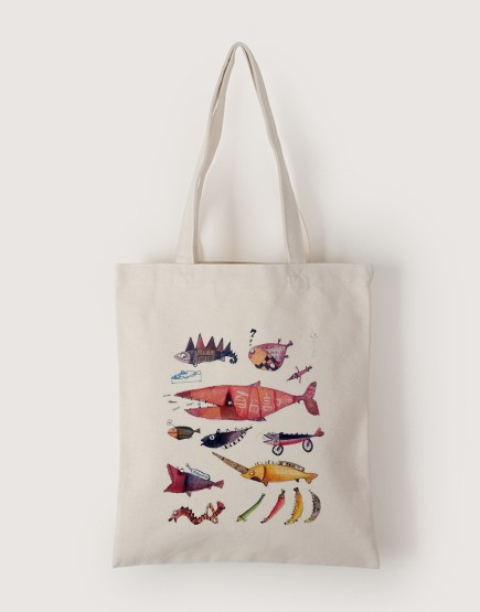 魚群 | 帆布直式袋