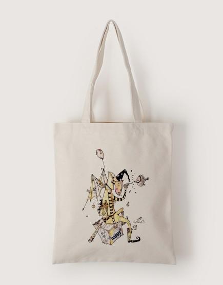 快樂 | 帆布直式袋