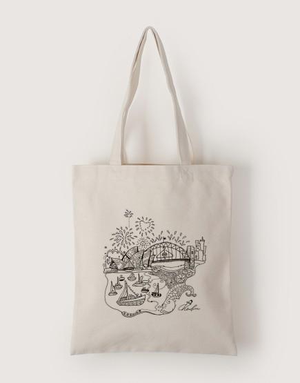澳洲跨年 | 帆布直式袋