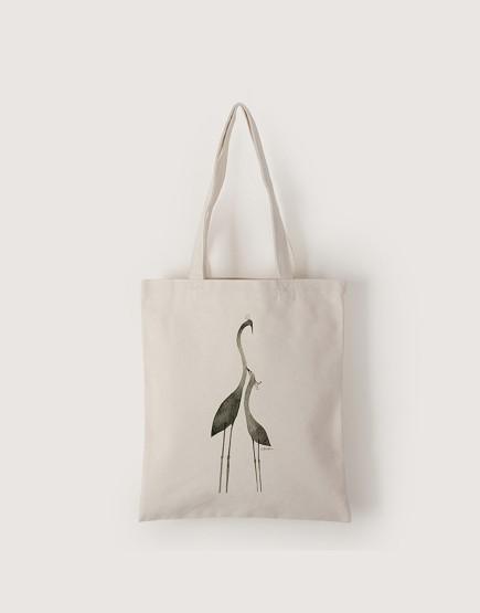 心情小鳥系列 | 帆布直式袋 | chien