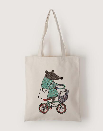 鼠叔載貓咪 | 帆布直式袋