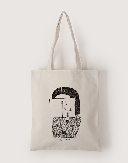 Reading Girl | 帆布直式袋