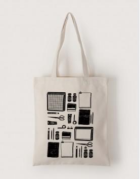 插畫家的絹印工具 | 帆布直式袋