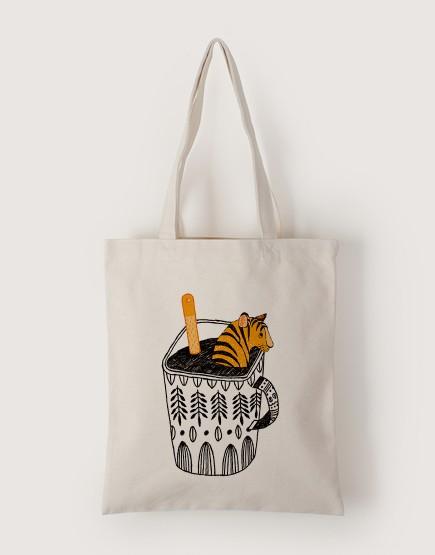 杯子裡的老虎 | 帆布直式袋