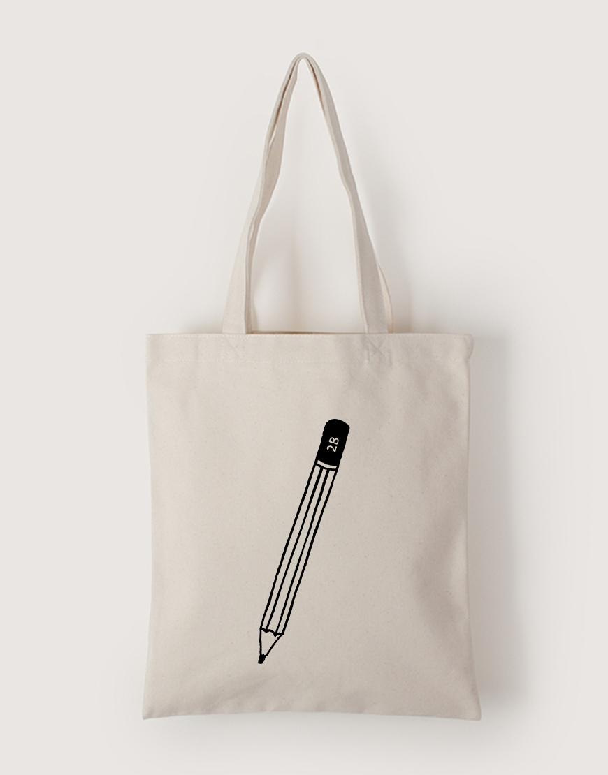 2B鉛筆   帆布直式袋
