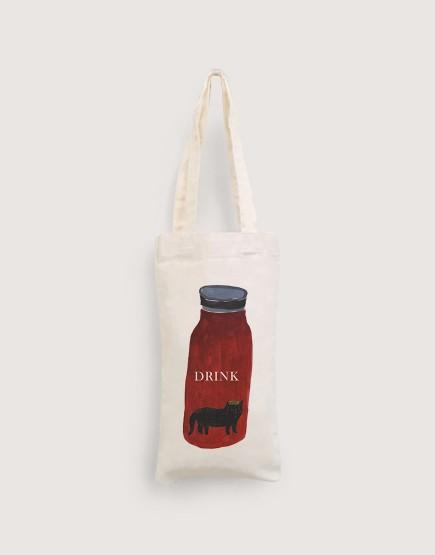 貓咪水瓶 | 棉布小提袋