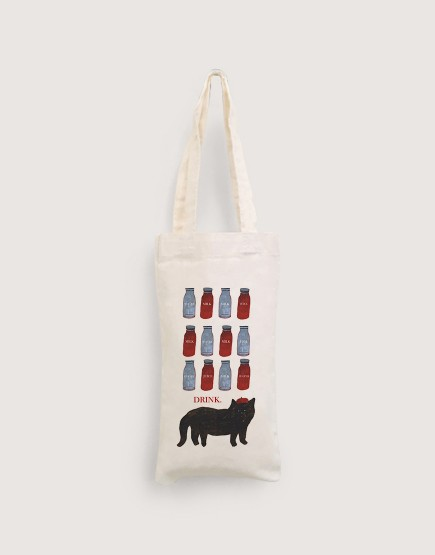 插畫水瓶 | 棉布小提袋
