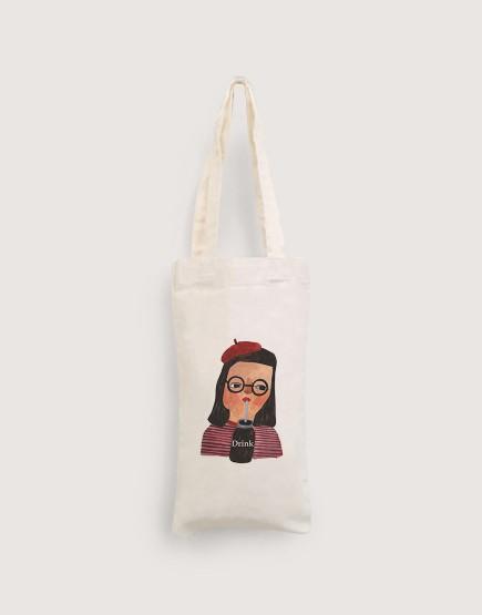 女孩 | 棉布小提袋