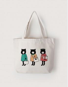 熊三隻 | 帆布橫式袋
