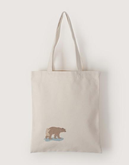 熊熊渡河 | 帆布直式袋