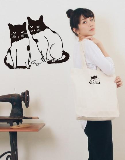 我與我的貓夥伴 | 帆布直式袋 | Miss C