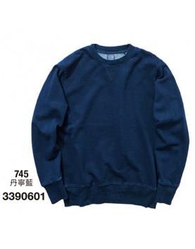 日本品牌│丹寧藍大學長袖T恤