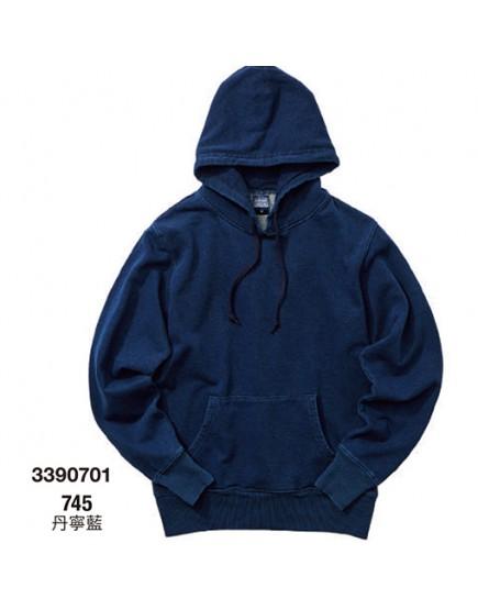 日本品牌-12.2oz丹寧藍連帽T恤